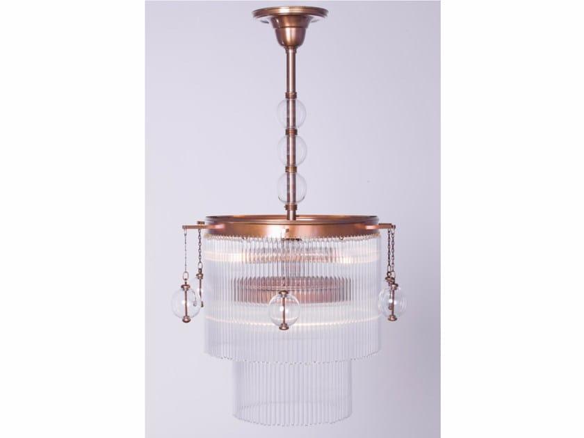Lampadario a luce diretta fatta a mano in ottone VERSAILLES II | Lampada a sospensione - Patinas Lighting
