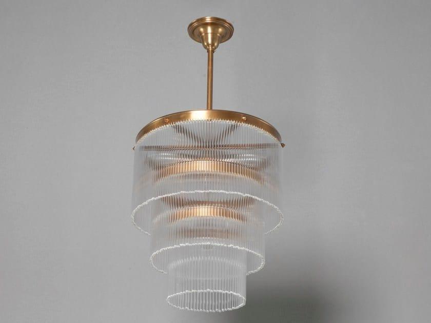 Lampadario a luce diretta fatta a mano in ottone VERSAILLES III | Lampada a sospensione in ottone - Patinas Lighting