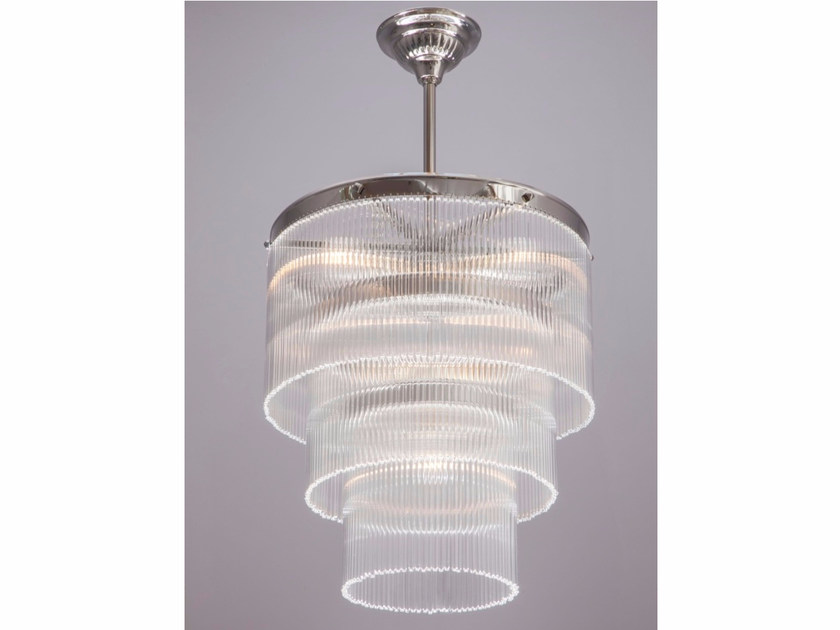 Direct light handmade nickel chandelier VERSAILLES III | Nickel pendant lamp - Patinas Lighting
