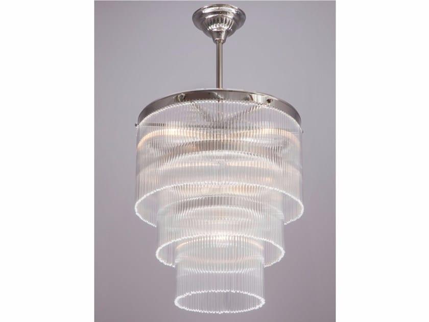 Lampadario a luce diretta fatta a mano in nichel VERSAILLES III | Lampada a sospensione in nichel - Patinas Lighting
