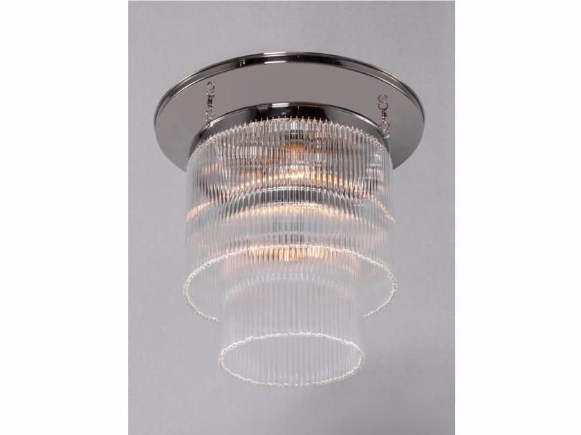 Lampada da soffitto a luce diretta fatta a mano in nichel VERSAILLES | Lampada da soffitto in nichel by Patinas Lighting