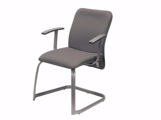 Cantilever chair with armrests VERSO | Chair with armrests by NARBUTAS