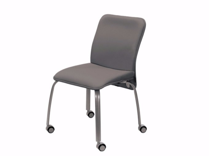 Fabric training chair with casters VERSO | Chair with casters by NARBUTAS