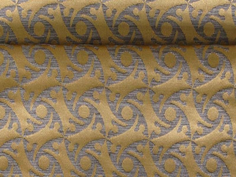 Jacquard fabric with graphic pattern VERTIGO GHOST by l'Opificio
