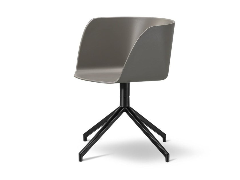 Chair with 4-spoke base VERVE | Chair with 4-spoke base - FREDERICIA FURNITURE