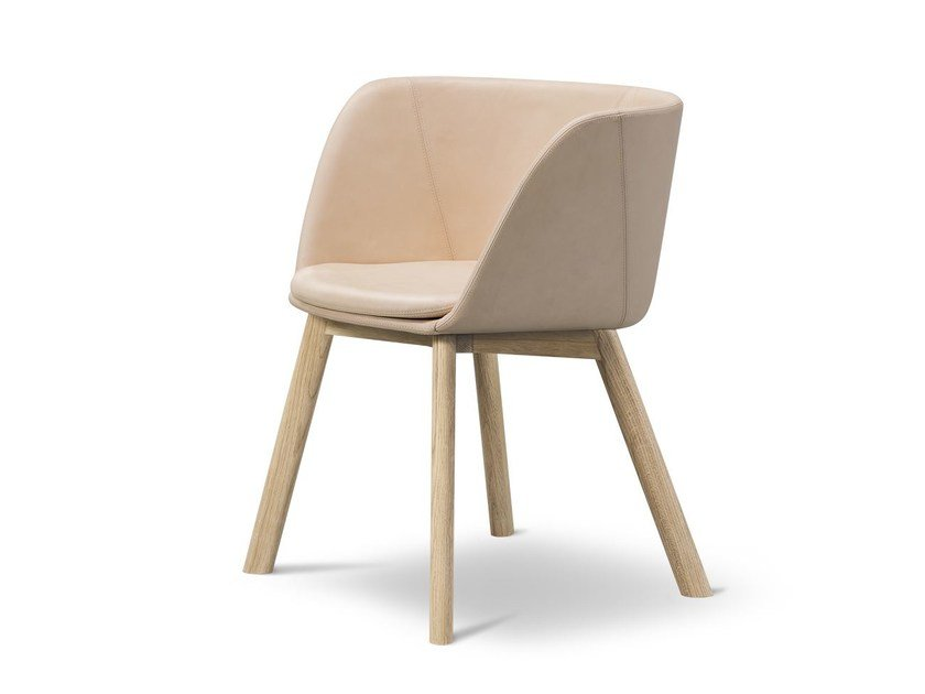 Leather chair VERVE WOOD | Leather chair by FREDERICIA FURNITURE