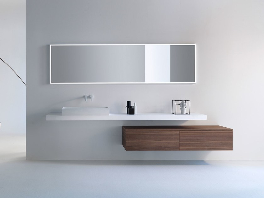 Wall-mounted wooden vanity unit with drawers VIA VENETO | Wall-mounted vanity unit by FALPER
