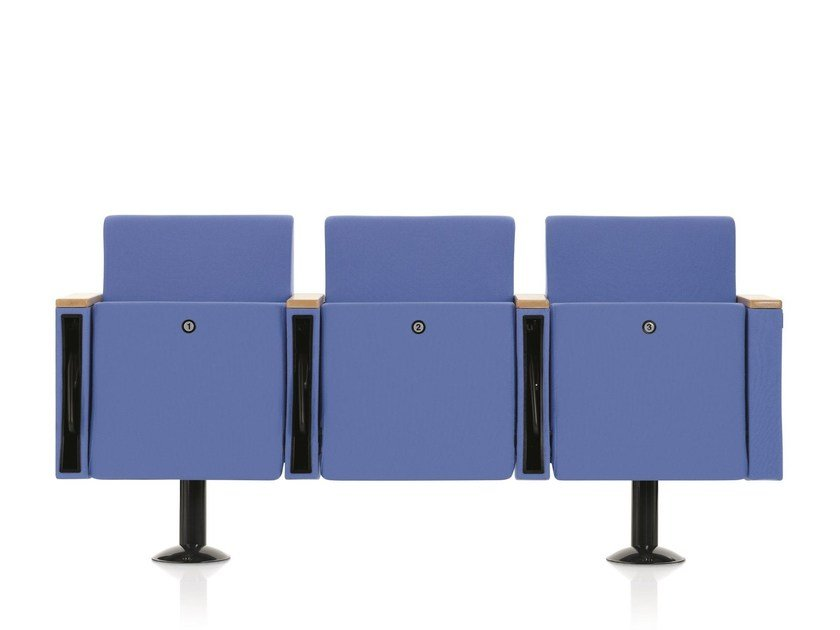 Fabric auditorium seats with writing tablet VICTORY 100 by Emmegi