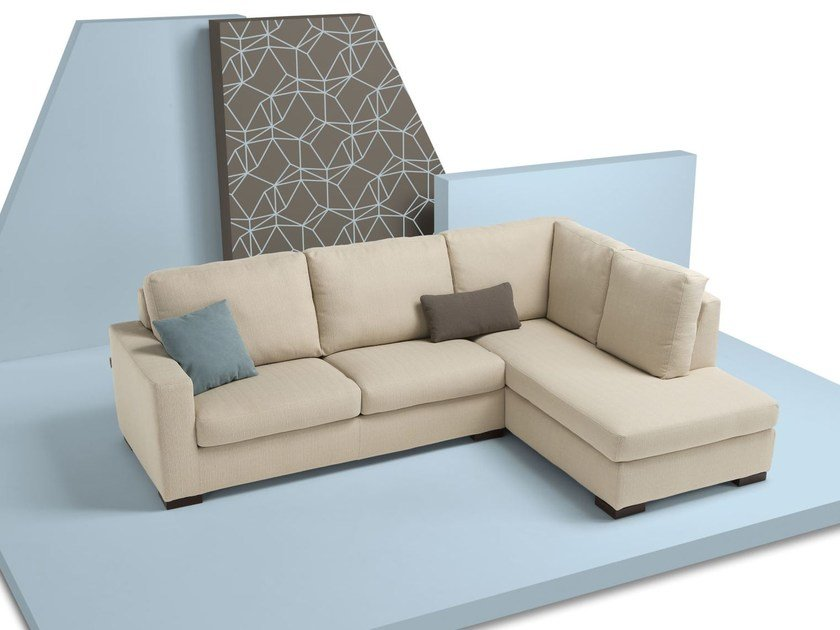 Divano letto sfoderabile in tessuto con chaise longue - Divani letto chaise longue ...