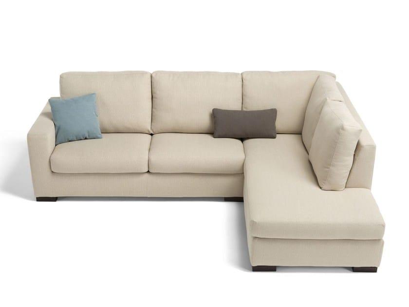 Divano letto sfoderabile in tessuto con chaise longue - Chaise longue divano ...