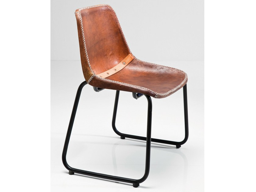 Leather chair VINTAGE BROWN LEATHER - KARE-DESIGN