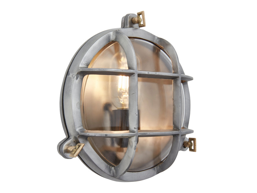 Iron wall lamp VINTAGE INDUSTRIAL HEAVY ROUND BULKHEAD by Industville