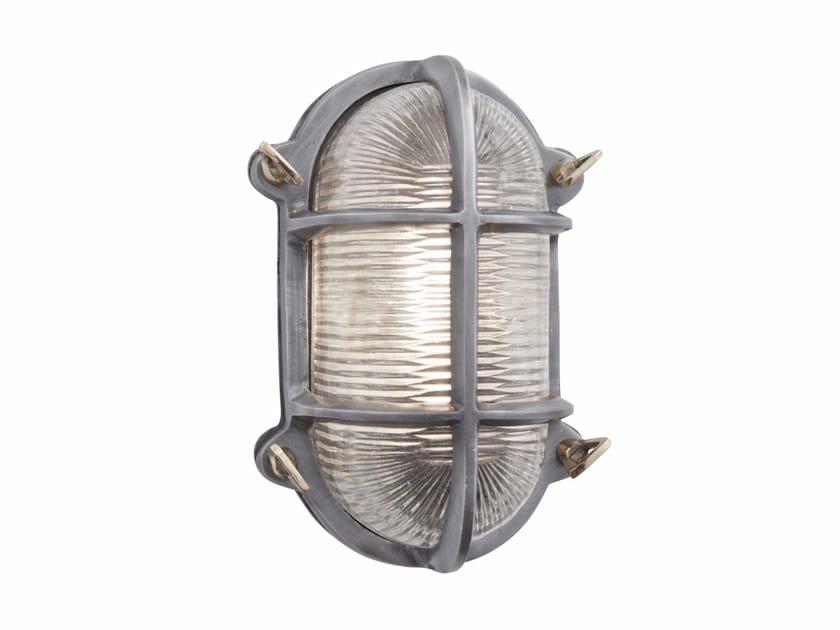 Iron wall lamp VINTAGE INDUSTRIAL OVAL HEAVY BULKHEAD by Industville