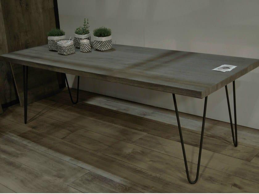 Rectangular oak table VIRGULE - CABUY D.