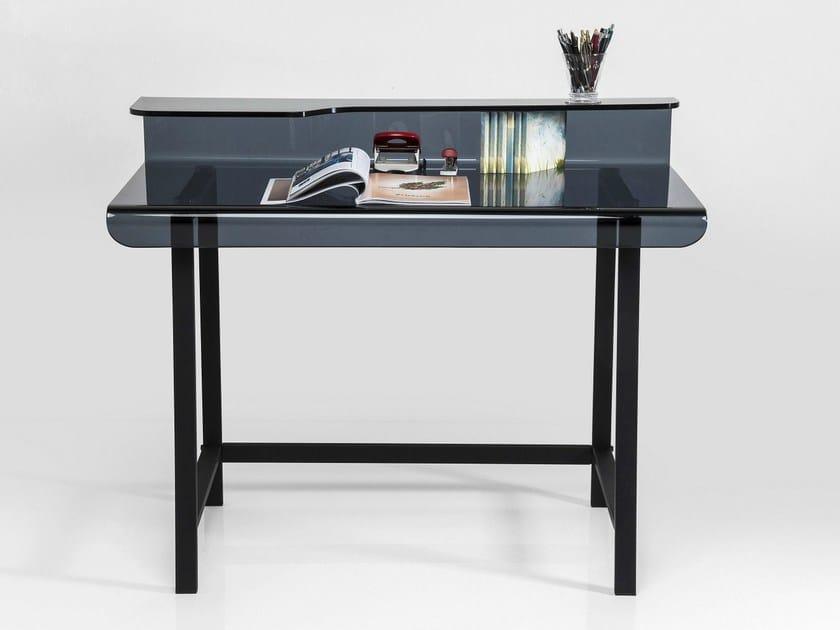 Rectangular glass writing desk VISIBLE GREY - KARE-DESIGN