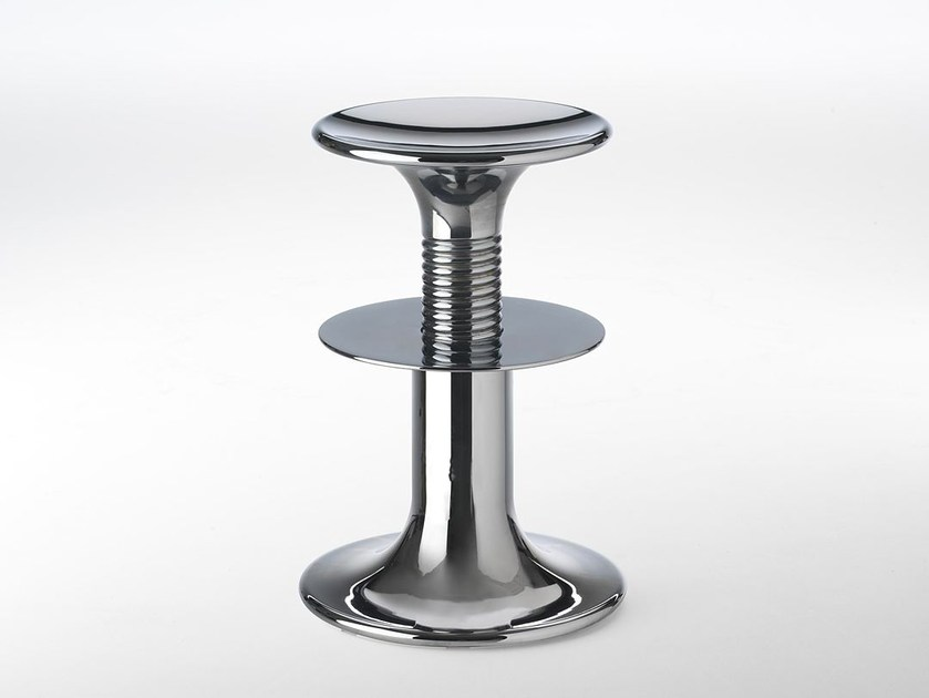 Height-adjustable plate stool VITESSE by Paolo Castelli