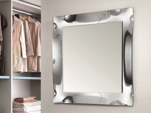 Wall-mounted mirror VIVA | Square mirror - RIFLESSI