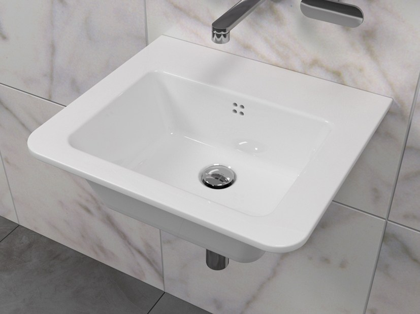 Single ceramic washbasin VOLO 52 by CERAMICA FLAMINIA