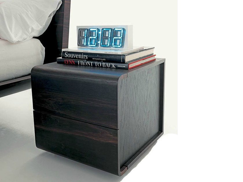 Square bedside table with drawers VOLO   Bedside table by Fimar