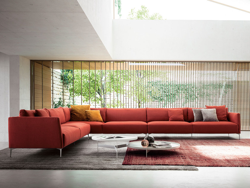 Corner fabric sofa VOLO | Corner sofa by PIANCA