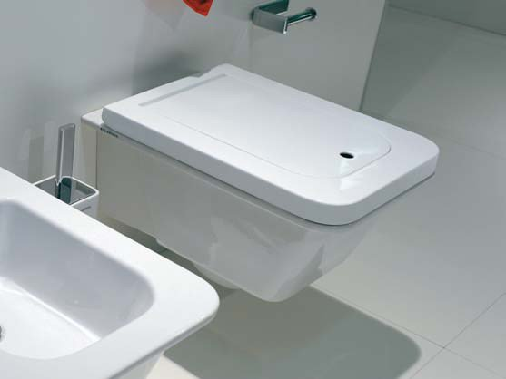 Wc bidet sospeso in ceramica linea volo by ceramica for Architec bidet sospeso