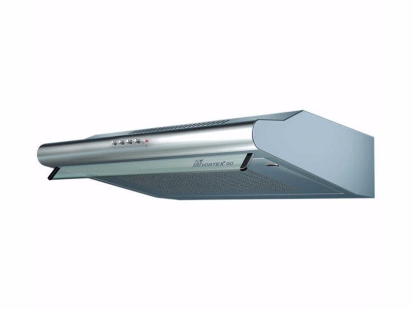 Wall-mounted steel cooker hood with integrated lighting VORTEX 90-I - Vortice Elettrosociali