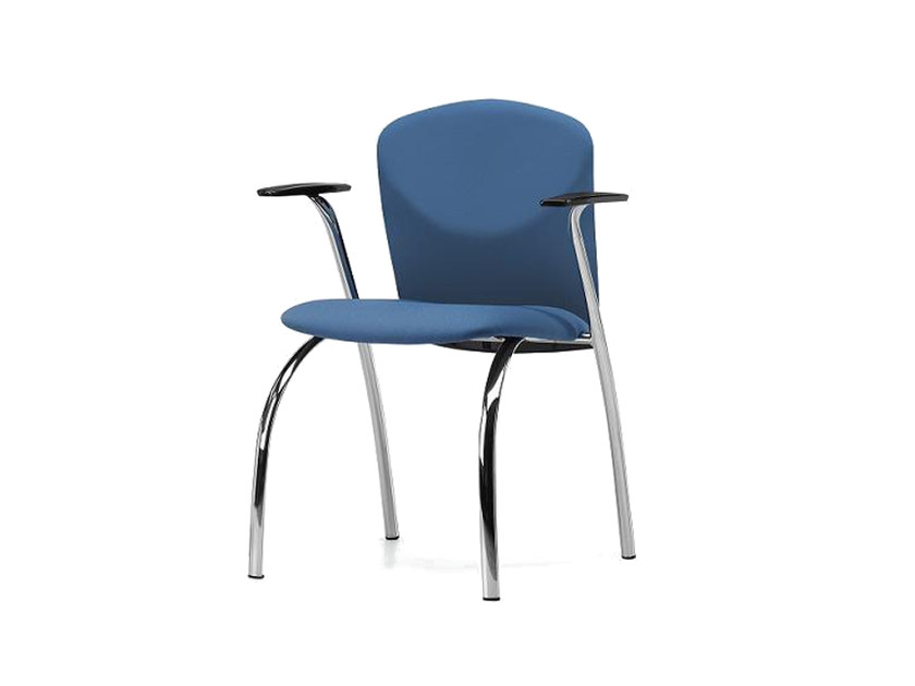 Upholstered fabric reception chair with armrests VULCAN 1275 Z - TALIN