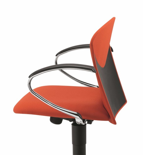 Fabric task chair with 5-Spoke base with armrests with casters VULCAN 1310 Z - TALIN
