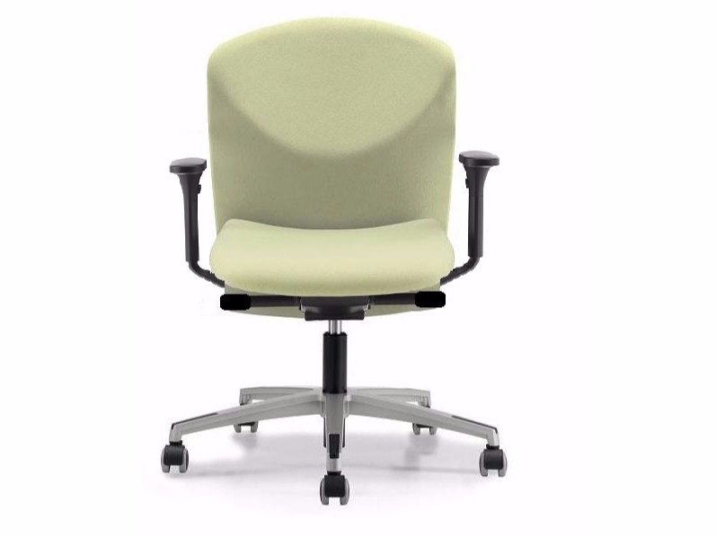 Fabric task chair with 5-Spoke base with armrests with casters VULCAN 1447 Z - TALIN