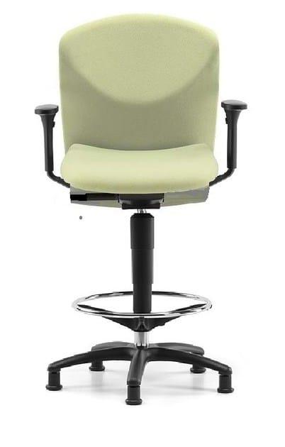 Sedia ufficio operativa in tessuto a 5 razze con braccioli per disegnatore VULCAN 1471 Z - TALIN