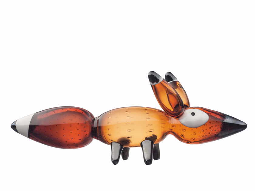 Stained glass decorative object VULPES RED FOX - iittala