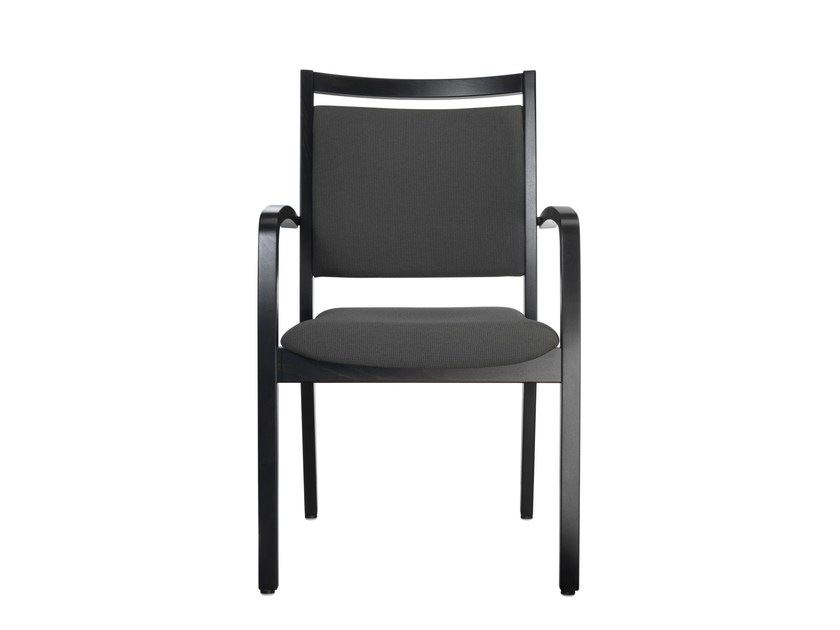 Lacquered chair with armrests W4054 | Lacquered chair by MSM