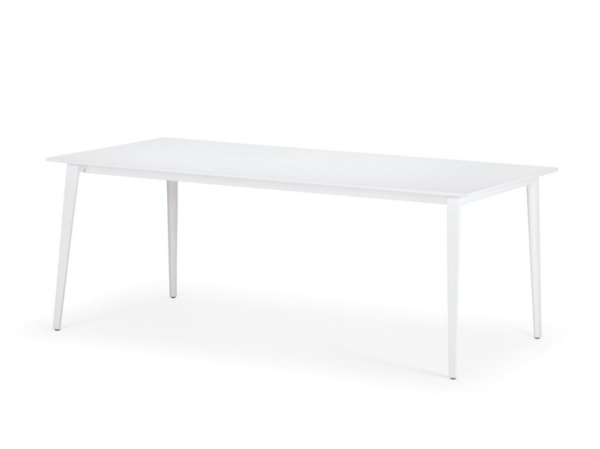 Rectangular powder coated aluminium garden table WA | Powder coated aluminium table by Dedon