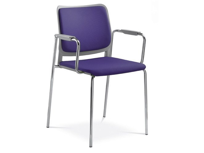 Plastic training chair with armrests with integrated cushion WAIT   Chair with armrests by NARBUTAS