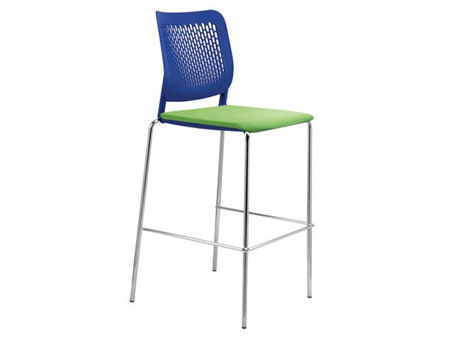 Plastic training chair with integrated cushion WAIT | Chair by NARBUTAS