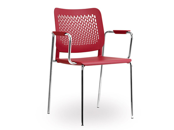 Plastic training chair with armrests WAIT   Reception chair by NARBUTAS