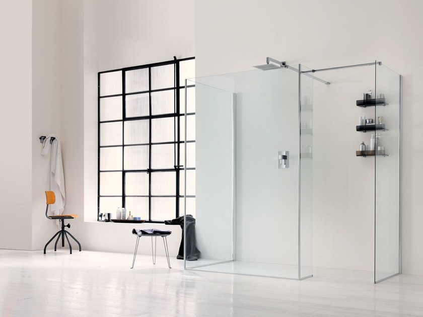 Glass shower wall panel WALK IN 6mm - 1 - INDA®