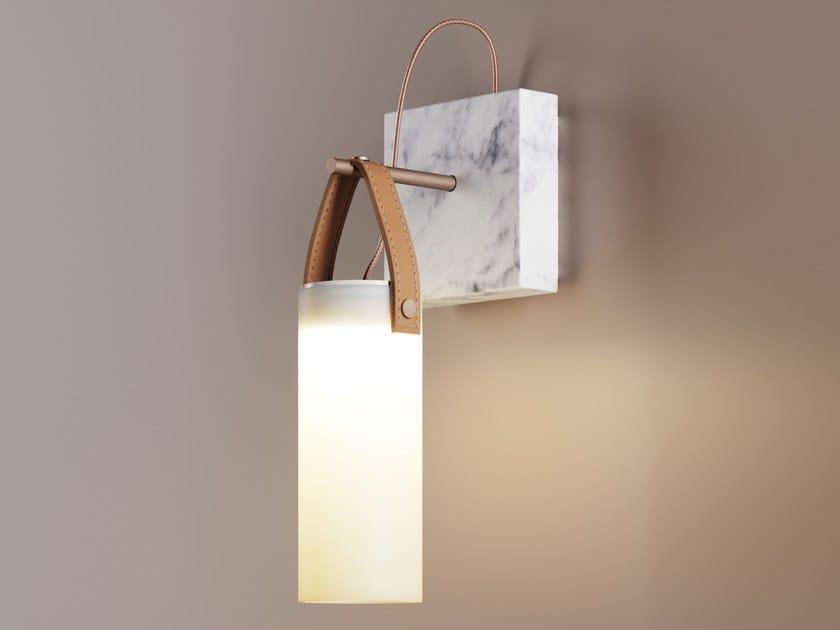 Blown glass wall lamp GALERIE | Wall lamp by FontanaArte