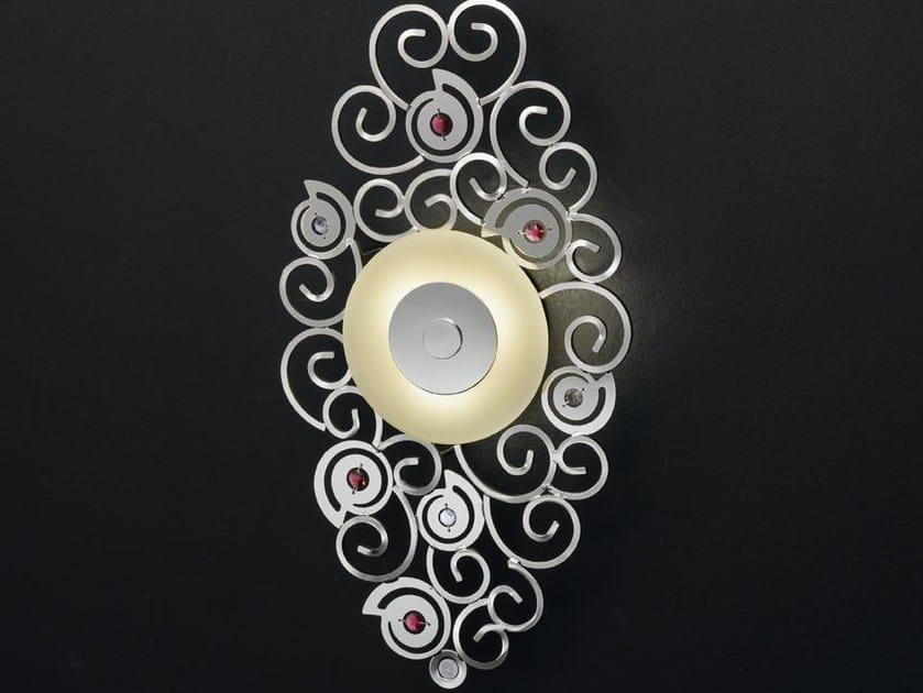 Metal wall lamp with Swarovski® crystals CRYSTAL MARINE | Wall lamp - IDL EXPORT