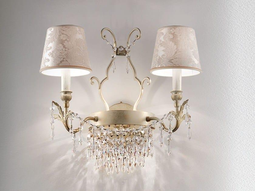 Direct-indirect light metal wall lamp GLASSÉ   Wall lamp by Masiero