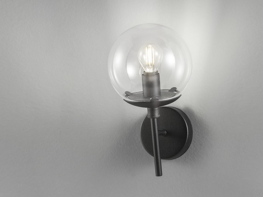 Metal wall lamp with fixed arm GLOBAL Ø 18/ Ø 25 by Metal Lux
