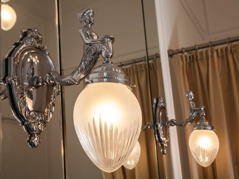Lampada da parete a luce diretta in nichel FORTUNA III | Lampada da parete in nichel - Patinas Lighting
