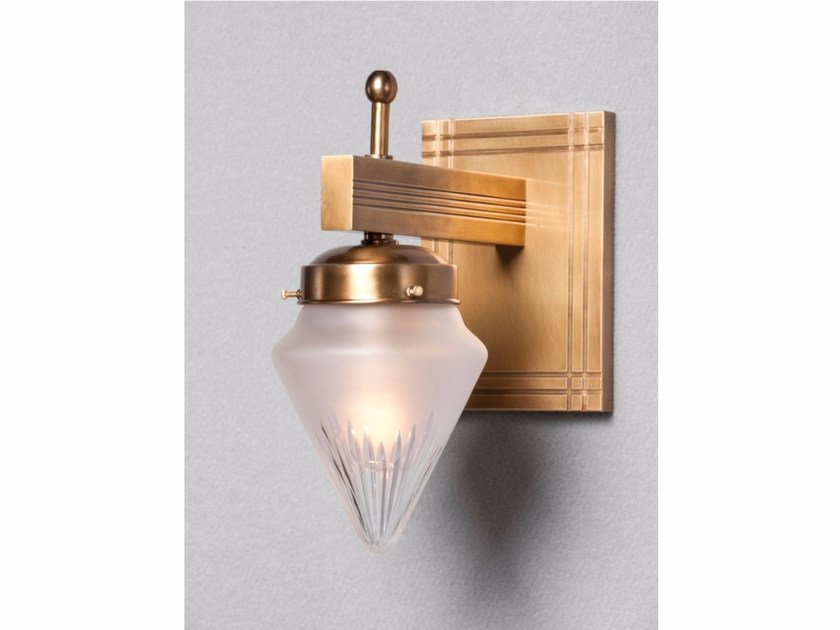 Direct light handmade brass wall lamp NEW YORK I | Wall lamp - Patinas Lighting