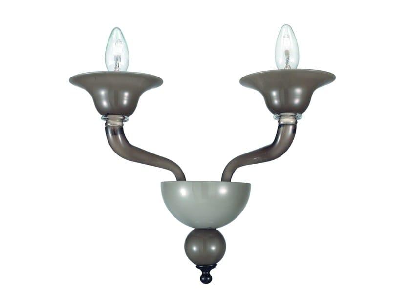 Lampada da parete in vetro di Murano MACBETH | Lampada da parete - ROSSINI ILLUMINAZIONE