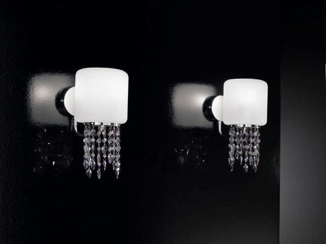 Blown glass wall light with Swarovski® crystals TIFFANY | Wall light - IDL EXPORT