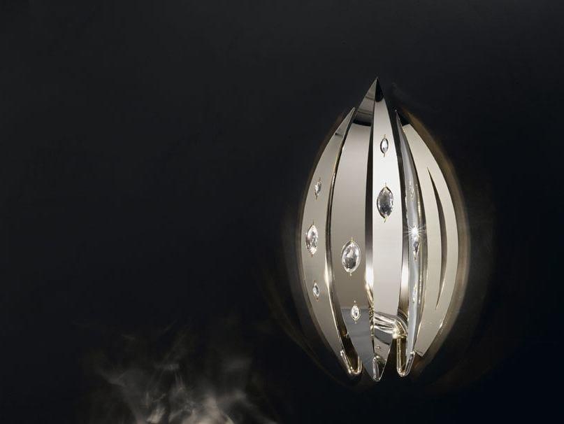 Metal wall light with Swarovski crystals CRYSTAL PALM | Wall light - IDL EXPORT