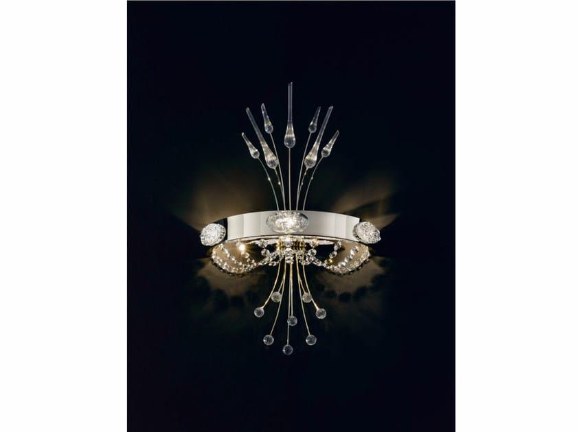 Metal wall light with Swarovski® crystals ELEGANCE | Wall light - IDL EXPORT