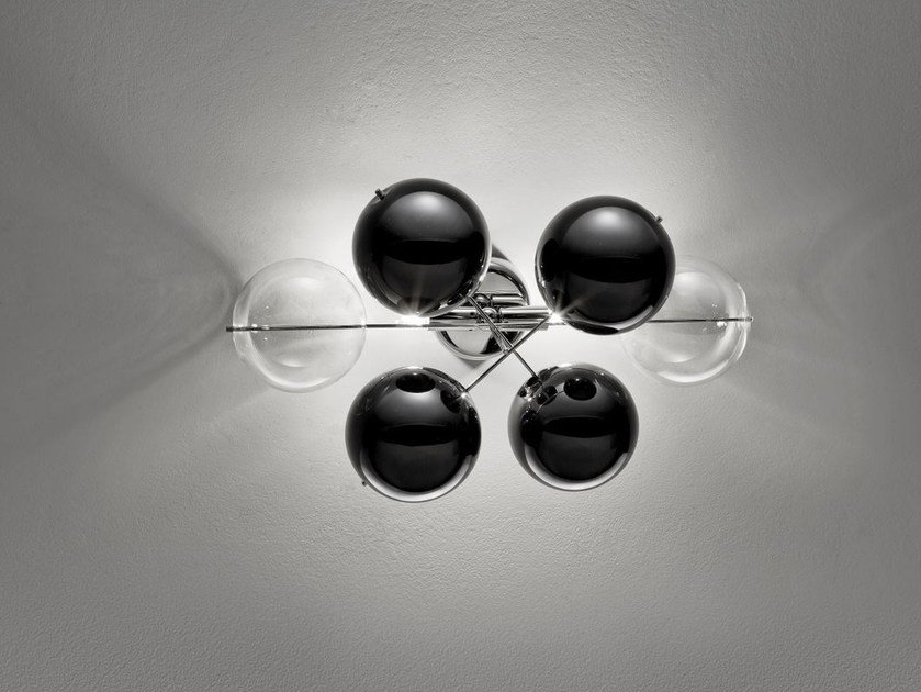 Crystal wall light ATOM L 40 - Metal Lux di Baccega R. & C.