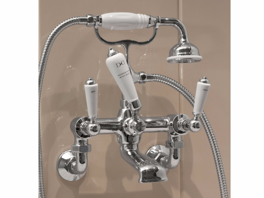 Wall-mounted bathtub tap with hand shower DANDY | Wall-mounted bathtub tap - Devon&Devon