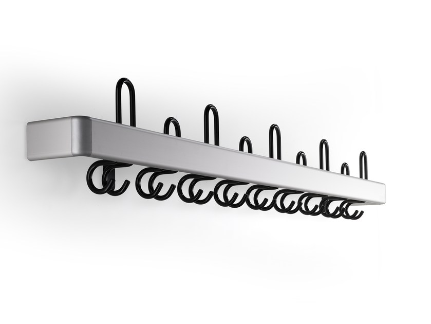 Wall-mounted metal coat rack CERTEZZA | Wall-mounted coat rack by rosconi